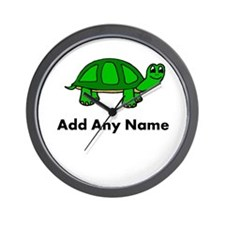 Turtle Design - Add Your Name! Wall Clock