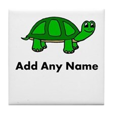Turtle Design - Add Your Name! Tile Coaster