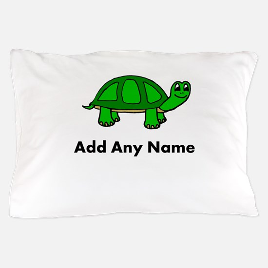 Turtle Design - Add Your Name! Pillow Case