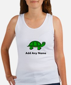 Turtle Design - Add Your Name! Tank Top