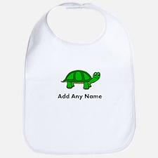 Turtle Design - Add Your Name! Bib