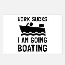 Work Sucks Boating Postcards (Package of 8)