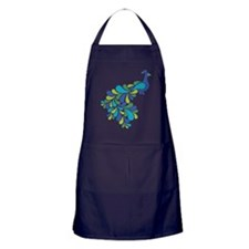 Retro Peacock Apron (dark)