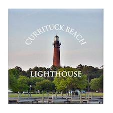 Currituck Beach Lighthouse Tile Coaster