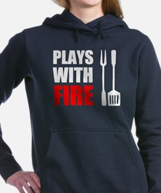 Plays With Fire Grill Women's Hooded Sweatshirt