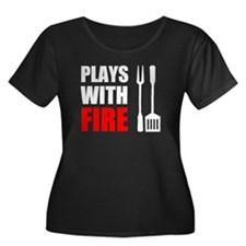 Plays With Fire Grill Plus Size T-Shirt