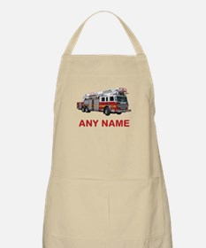 FIRETRUCK with Any Name or Text Apron