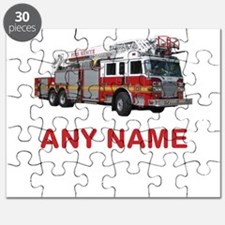 FIRETRUCK with Any Name or Text Puzzle