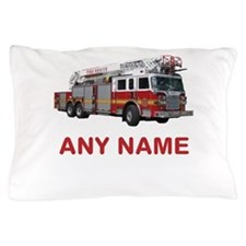 FIRETRUCK with Any Name or Text Pillow Case