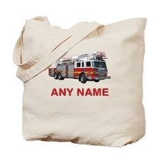 FIRETRUCK with Any Name or Text Tote Bag