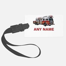 FIRETRUCK with Any Name or Text Luggage Tag