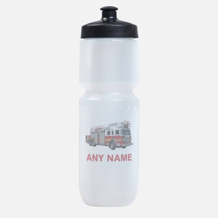 FIRETRUCK with Any Name or Text Sports Bottle