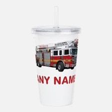 FIRETRUCK with Any Name or Text Acrylic Double-wal