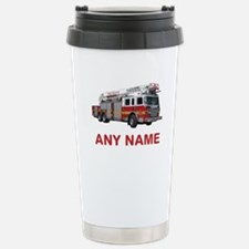 FIRETRUCK with Any Name or Text Travel Mug