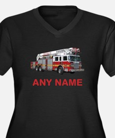 FIRETRUCK with Any Name or Text Plus Size T-Shirt