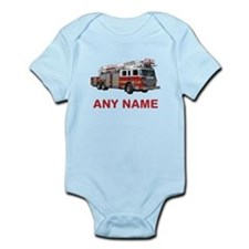 FIRETRUCK with Any Name or Text Body Suit