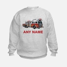 FIRETRUCK with Any Name or Text Sweatshirt