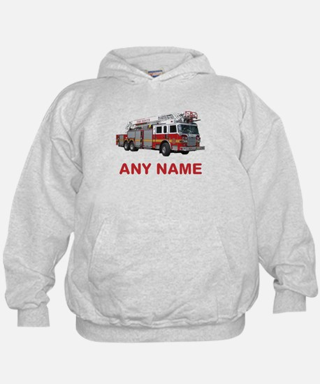 FIRETRUCK with Any Name or Text Hoodie