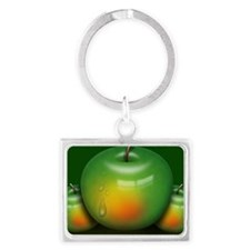 Green Apples Landscape Keychain