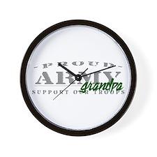 Proud Army Grandpa (green) Wall Clock