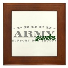 Proud Army Grandpa (green) Framed Tile