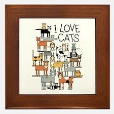 Unique Cat design Framed Tile