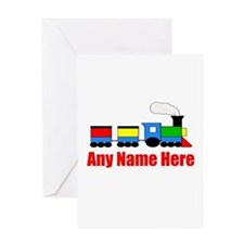 TRAIN choo choo with any name Greeting Cards