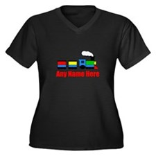 TRAIN choo choo with any name Plus Size T-Shirt