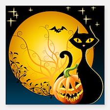 "Halloween Night Square Car Magnet 3"" x 3"""
