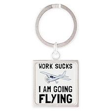 Work Sucks Flying Keychains