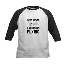 Work Sucks Flying Baseball Jersey