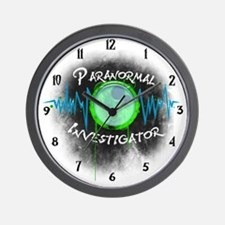 Ghost Investigator Wall Clock