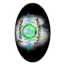 Ghost Investigator Oval Decal
