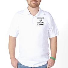 Work Sucks Golfing T-Shirt