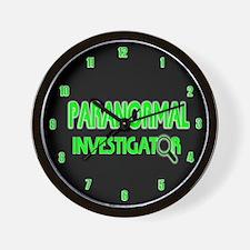 Paranormal Investigator Wall Clock