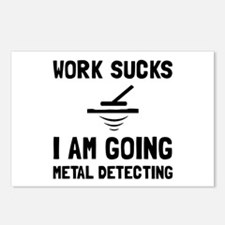 Work Sucks Metal Detecting Postcards (Package of 8