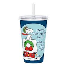 Snoopy: Merry Christma Acrylic Double-wall Tumbler
