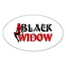 Black Widow Oval Decal