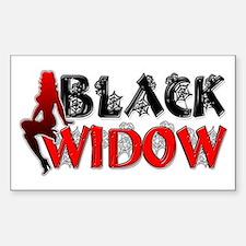 Black Widow Rectangle Decal