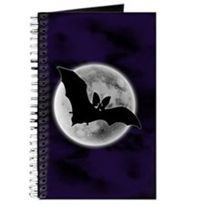 Full Moon Bat Blue Journal