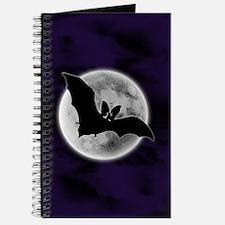 Full Moon Bat Blue Journal