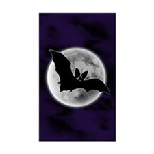 Full Moon Bat Blue Rectangle Decal