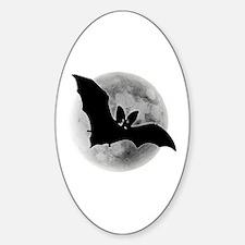 Full Moon Bat Oval Decal