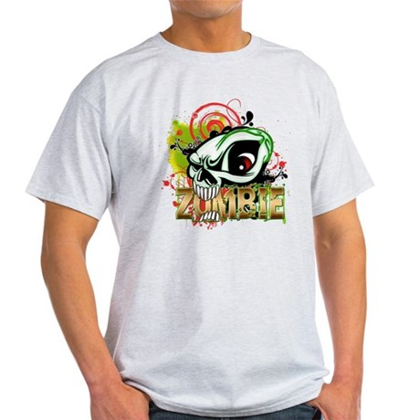 Zombie Skull Light T-Shirt