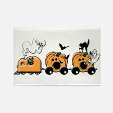 Boo Train Halloween Rectangle Magnet