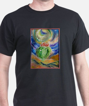 Cactus, Starry Night T-Shirt