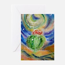 Cactus, Starry Night Greeting Cards