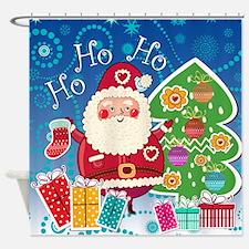 Santa Christmas Shower Curtain