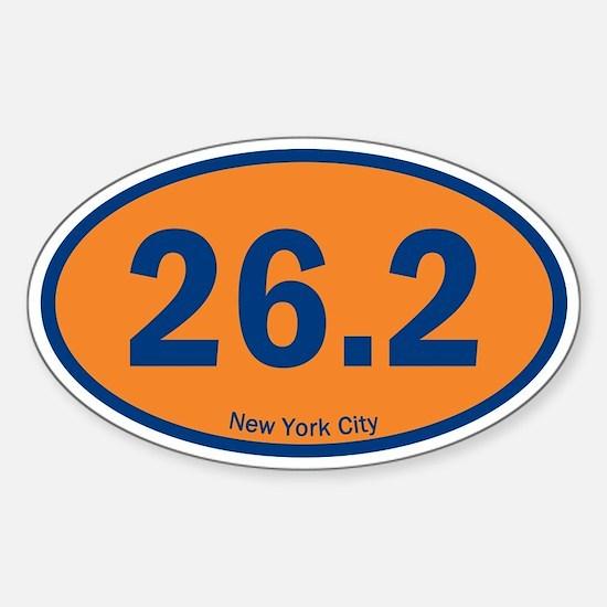 New York City Marathon 26.2 Euro Oval Decal