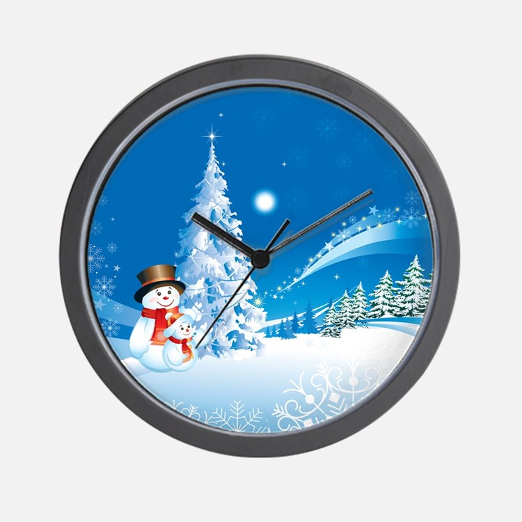 Snowman clocks wall large modern